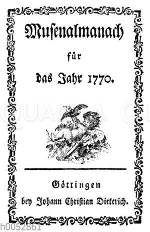 Titel des ersten deutschen Musenalmanachs