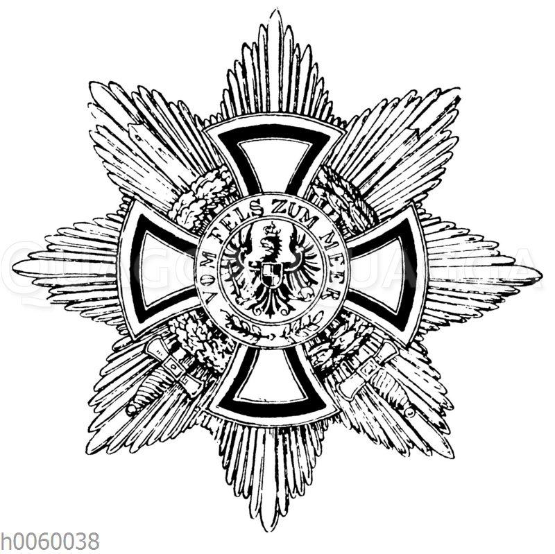 Hohenzollernscher Haus-Orden mit Schwertern (Stern der Großkomthure)