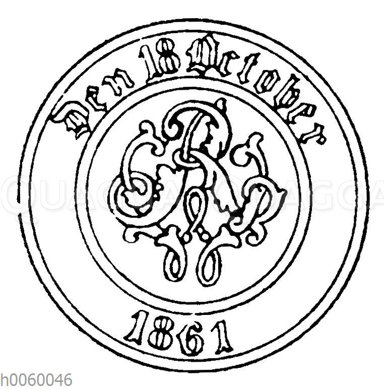 Revers des Medaillons zum Kronen-Orden (Preußen)