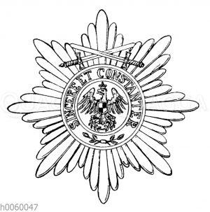 Roter Adler-Orden I. Klasse Stern mit Schwertern am Ringe (Preußen)