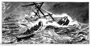 Rettung mit Rettungsboot