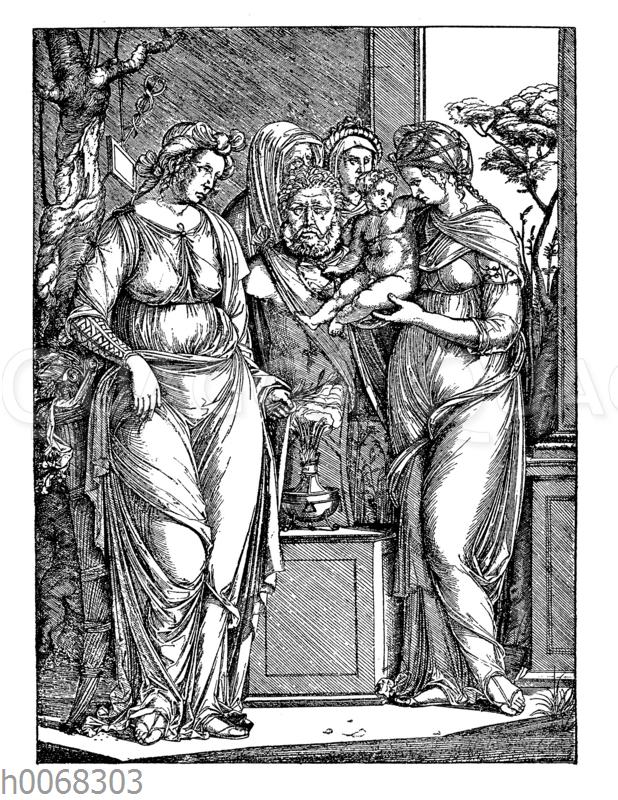 Das große Opfer des Priapus