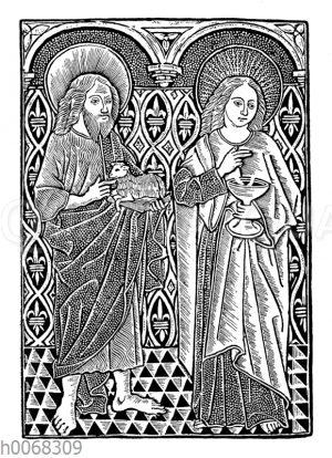 Johannes der Täufer und Johannes der Evangelist