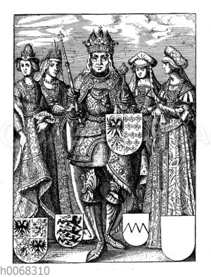 Karl der Große und seine vier Frauen