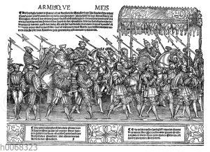 Prunkvoller Aufzug des Kaisers Karl V. und des Papstes Clemens VII. zu Bologna im Jahre 1530