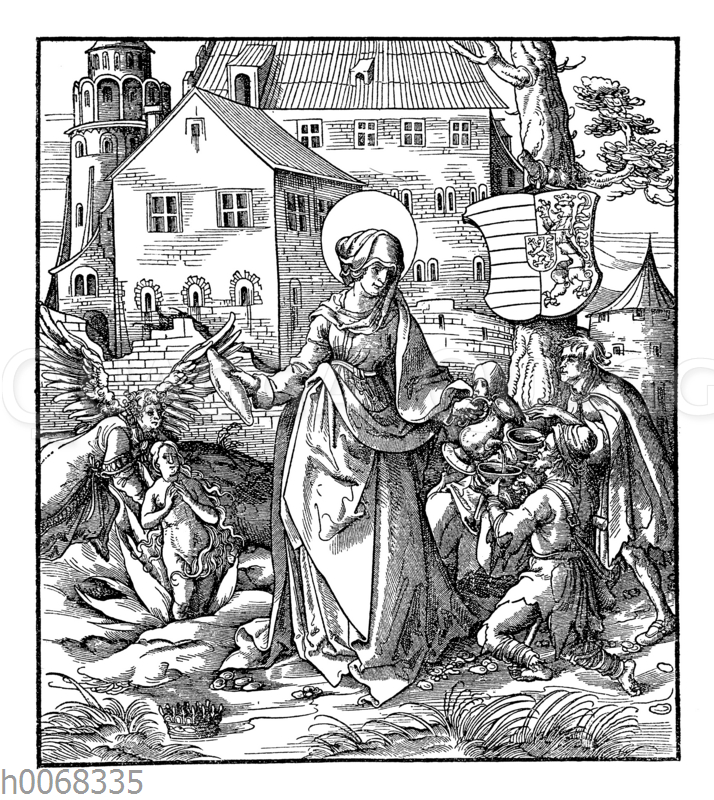 Hans Burgkmair: Die heilige Elisabeth