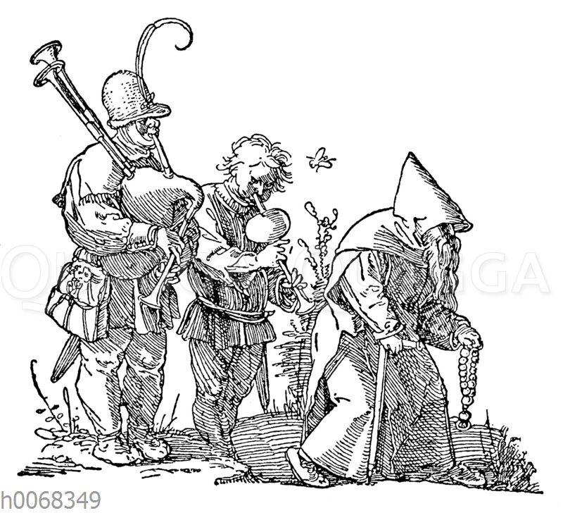 Albrecht Dürer: Bettelmönch und Musikanten
