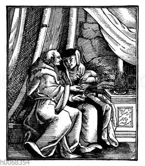 Der Mönch und die Nonne in der Zelle