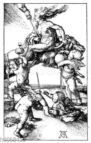 Die Hexe auf dem Bock