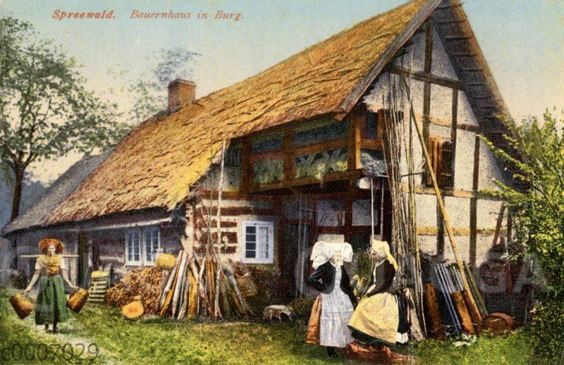 Spreewald: Bauernhaus in der Ortschaft Burg