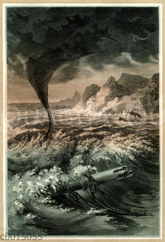 Seesturm mit Wasserhose