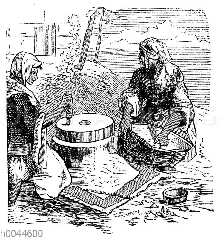 Getreide mahlen im alten Ägypten