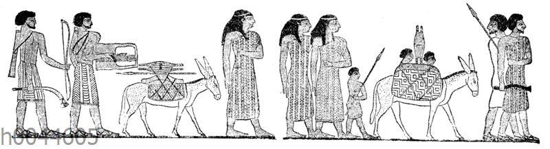 In Ägypten einwandernde semitische Familie