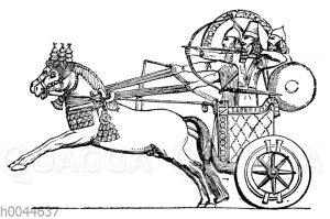 Sargon auf seinem Kriegswagen