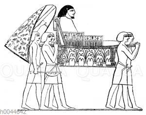 Sänfte eines ägyptischen Würdenträgers