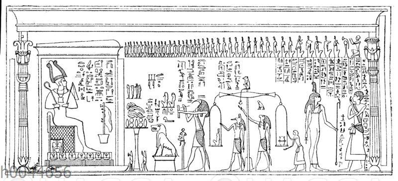 Ägyptische Darstellung des Totengerichts