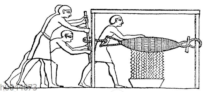 Ägyptische Weinpresse