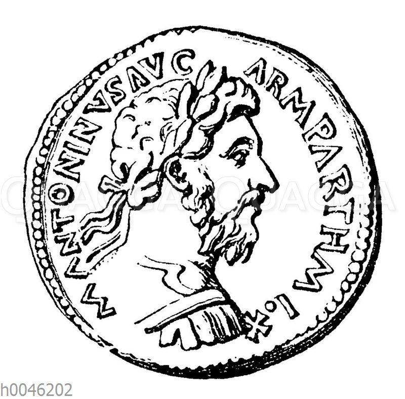 Marc Aurel auf einer Münze