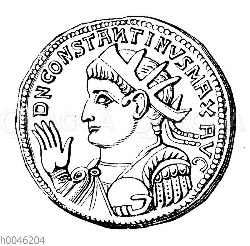 Constantin der Große auf einer Münze