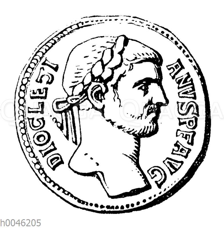 Diocletian auf einer Münze