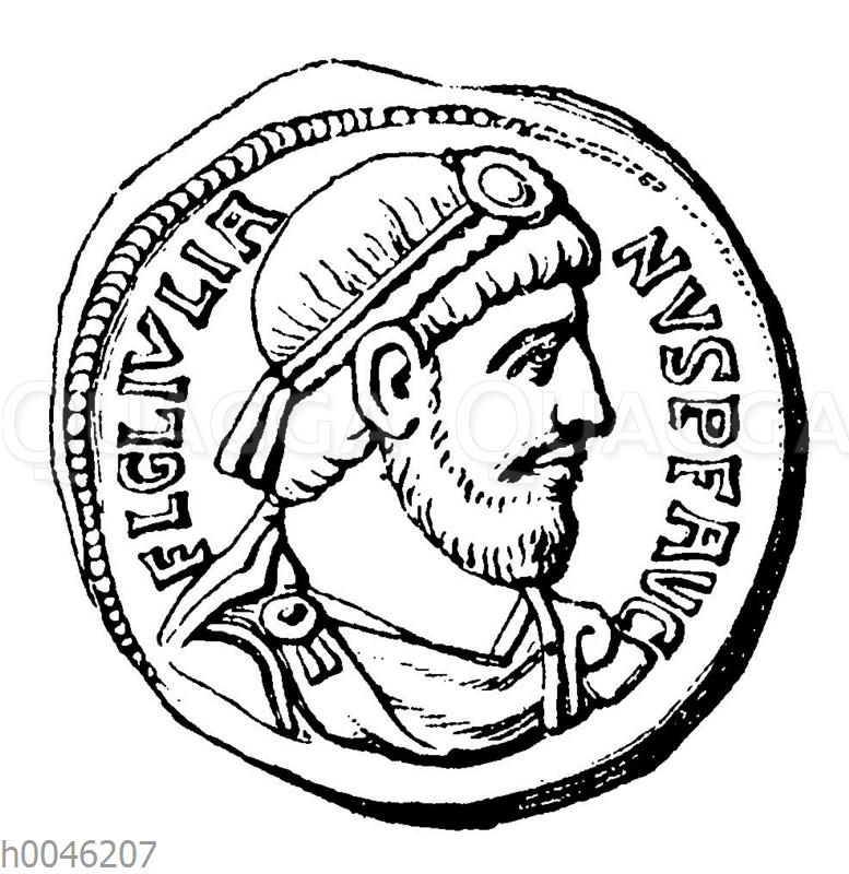 Julian Apostata auf einer Münze