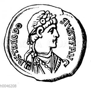 Theodosius der Große auf einer Münze