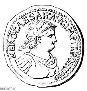 Nero auf einer Münze