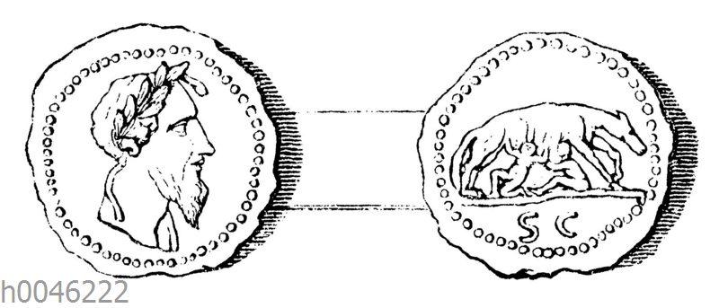 Romulus auf einer Münze