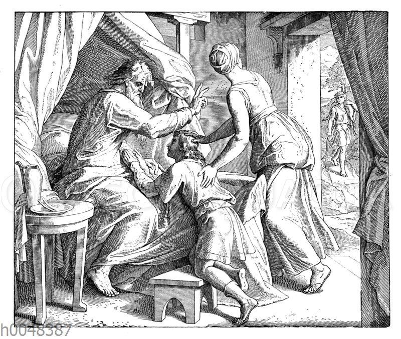 Isaak segnet Jakob vor Esau