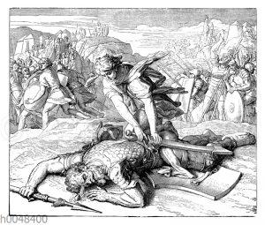 Davids Streit mit dem Riesen Goliath