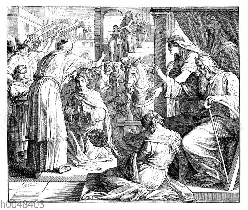 Salomo wird zum König gesalbt