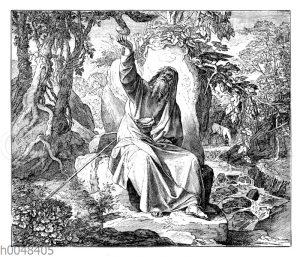 Elias wird in der Teuerung von Raben gespeist