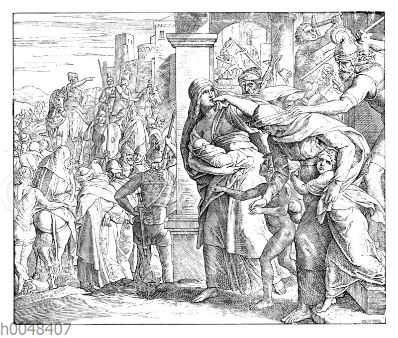 Zerstörung Jerusalems und Wegführung Judas nach Babel