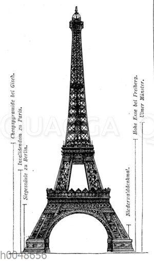 Eiffelturm (Paris, Frankreich, 1887-1889)