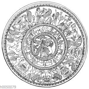 Silberne Schale von Kurion auf Kypros