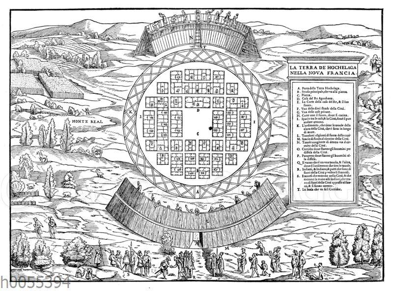 Karte von Hochelaga