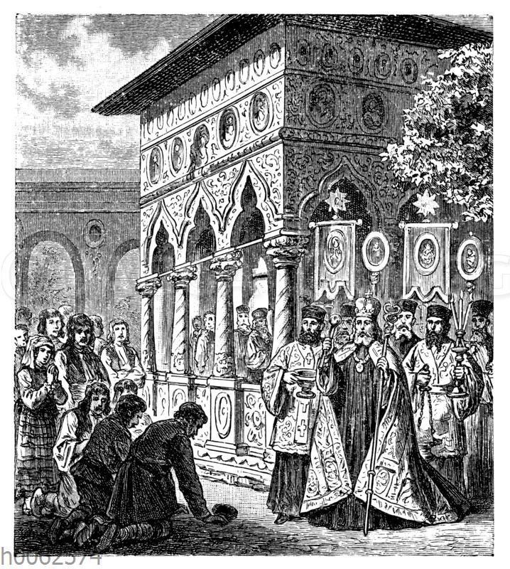 Auszug rumänischer Priester