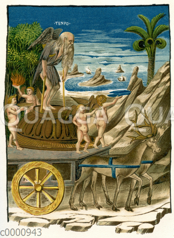 Der Triumph der Zeit (Zeichnung/Illustration zu Petrarcas 'Triumphen'
