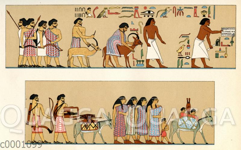 In Ägypten Einlass begehrende semitische Familie