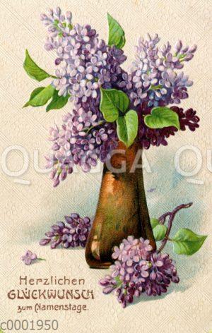 Vase mit Flieder