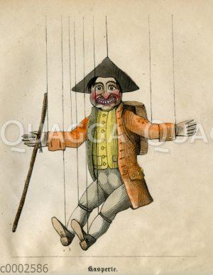 Kaspele-Figur aus Das Puppenspiel vom Doktor Faust