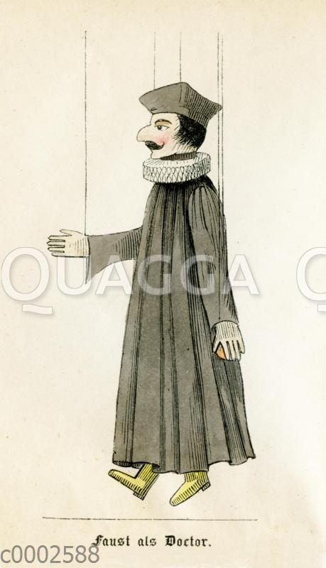 Marionette: Faust als Doktor