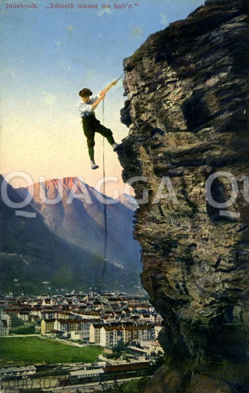 Bergsteiger bei Innsbruck