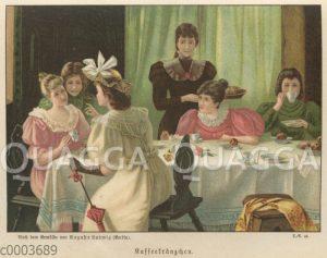 Junge Frauen beim Kaffeekränzchen