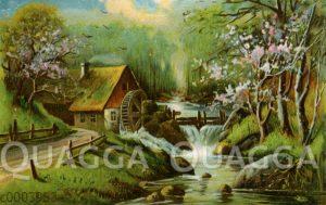 Wassermühle an einem Bach