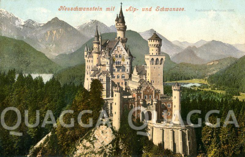 Neuschwanstein, Schloß (Deutschland, 1869-ca.1886)