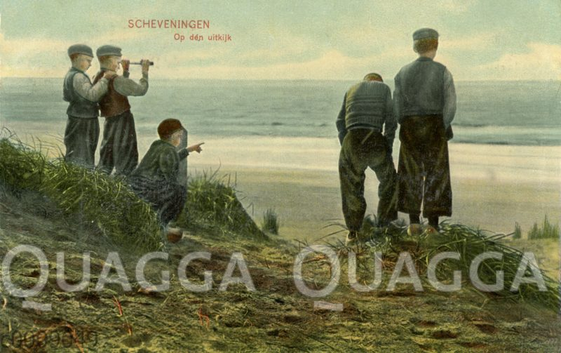 Scheveningen: Jungen am Aussichtspunkt