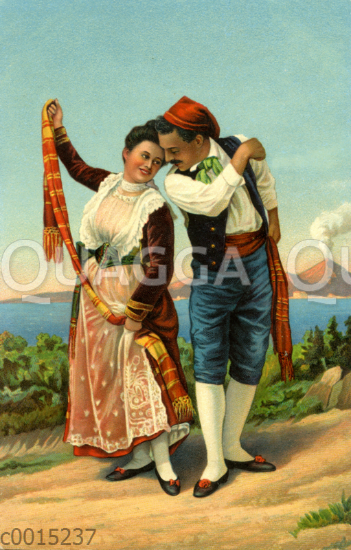 Griechisches Paar in traditioneller Kleidung
