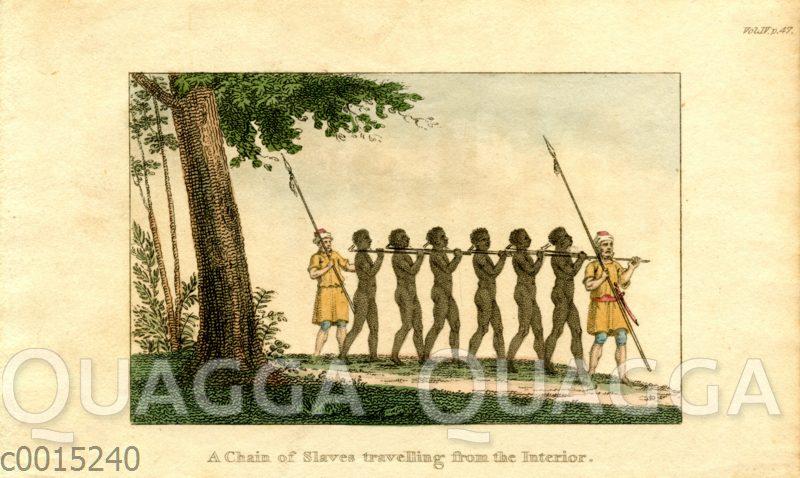 Sklavenkette mit Aufsehern
