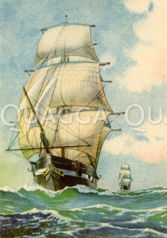 Segelboote auf hoher See